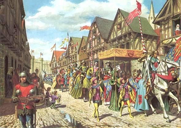 Въезд английского сеньора в город