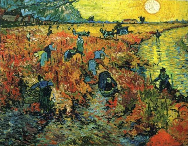Винсент Ван Гог. Красные виноградники в Арле, Арль, ноябрь, 1888