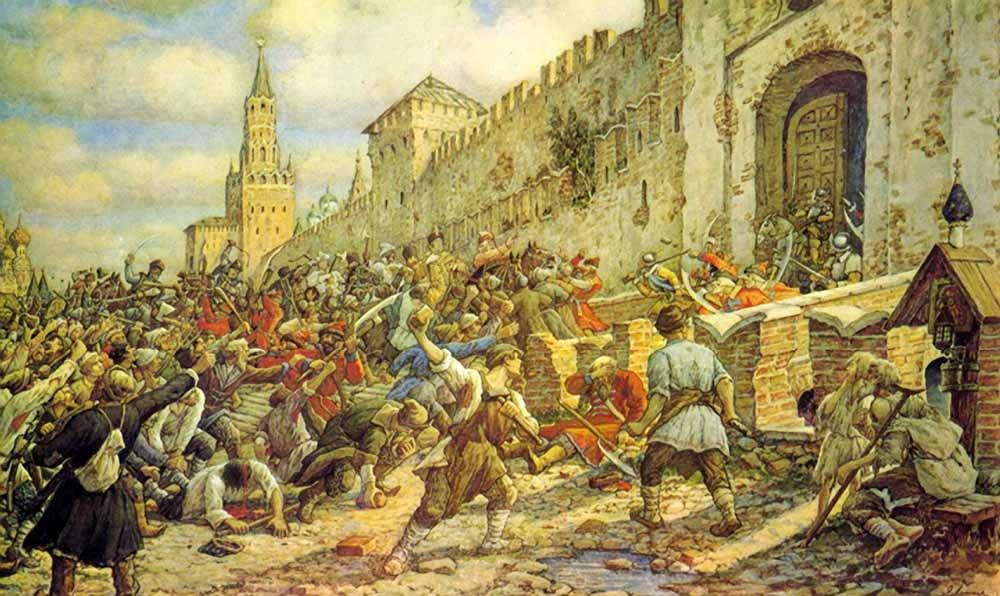 Соляной бунт. Картина Эрнеста Лисснера. 1938 год