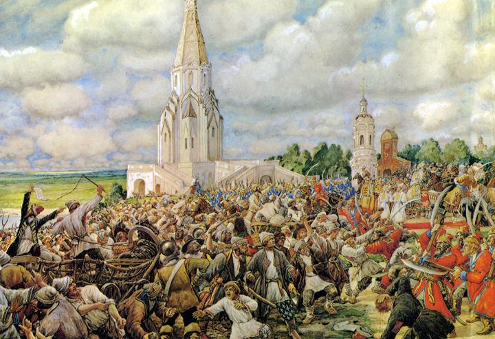 Медный бунт. Картина Эрнеста Лисснера. 1938 год