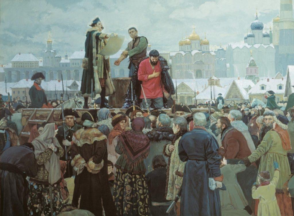 Казнь Пугачева. Картина Виктора Маторина. 2000 год