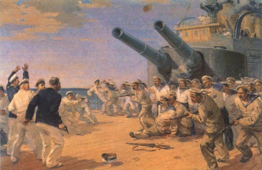 Вооруженное восстание на броненосце «Князь Потемкин-Таврический». Картина Петра Фомина. 1952 год