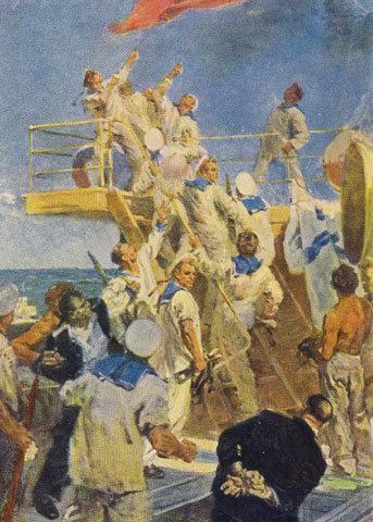 Восстание на броненосце «Потемкин». Картина Петра Страхова. 1957 год