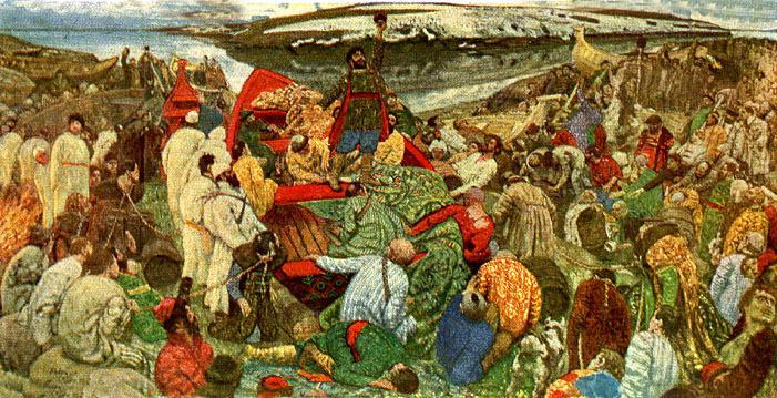 Степан Разин на Волге. Картина Гавриила Горелова. 1924 год
