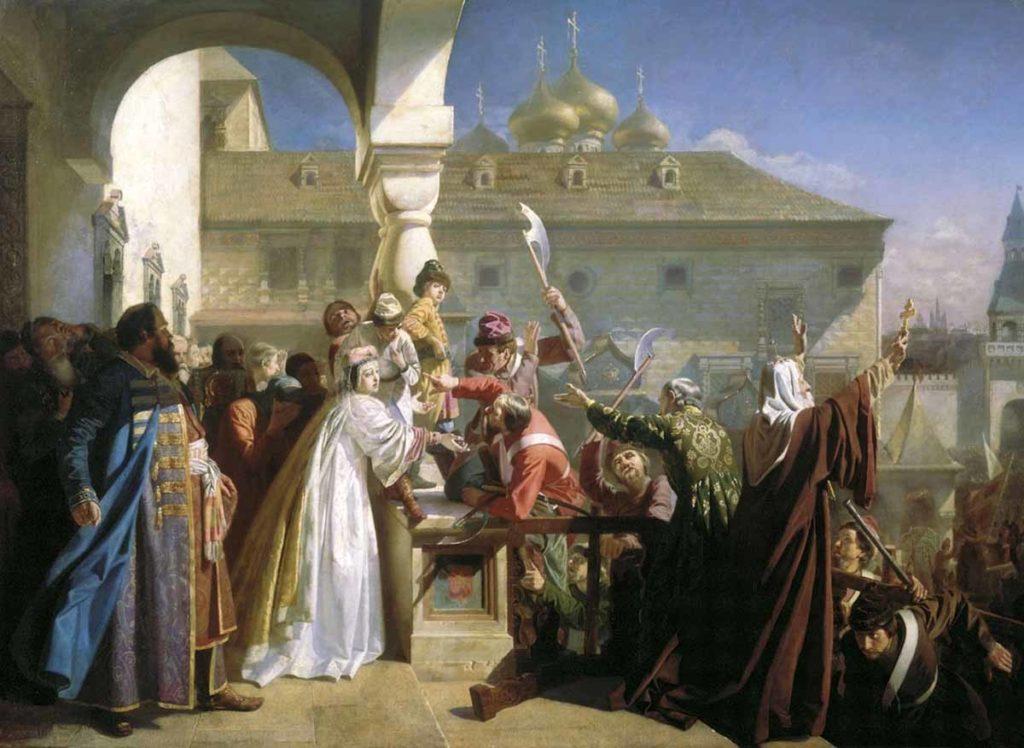 Стрелецкий бунт. Картина Николая Дмитриева-Оренбургского. 1862 год
