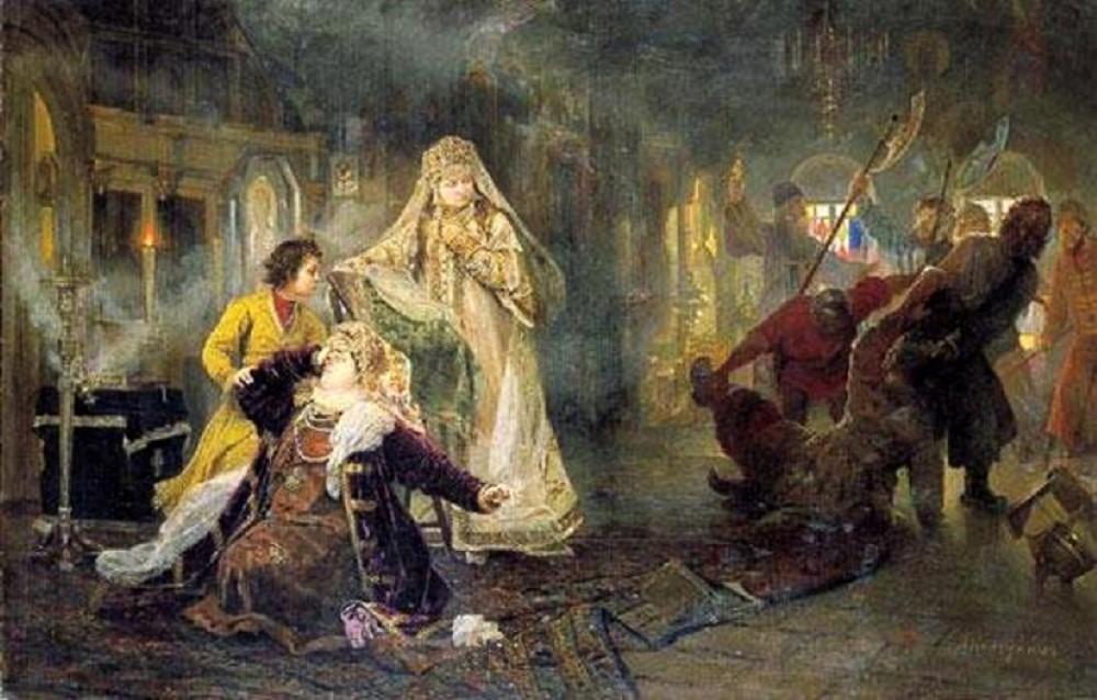 Мятеж стрельцов в 1682 году. Картина Алексея Корзухина. 1882 год