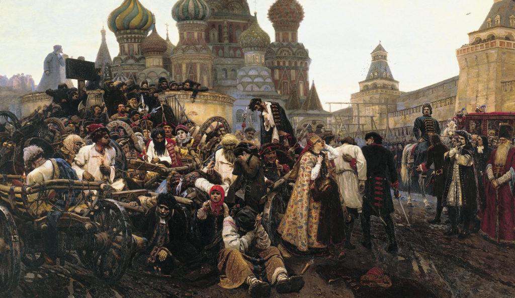Утро стрелецкой казни. Картина Василия Сурикова. 1881 год