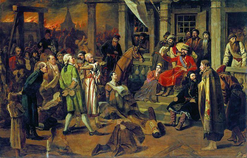 Суд Пугачева. Картина Василия Перова. 1875 год