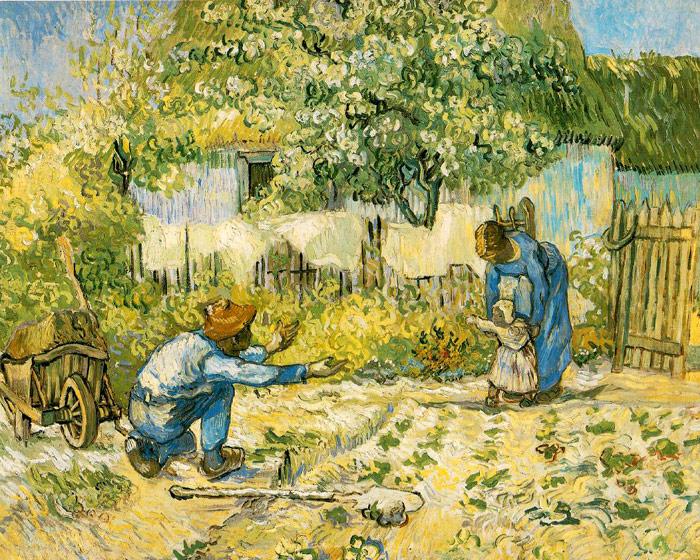 Винсент Ван Гог. Первые шаги (по картине Милле). Арль, 1890