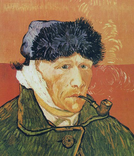 Винсент Ван Гог. Автопортрет с перевязанным ухом и трубкой. Арль, январь 1889