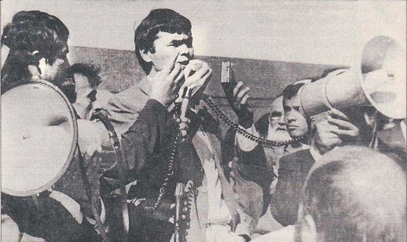 Мухаммад Салих выступает на митинге, 1989 год