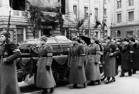 В час похорон И.В. Сталина на улицах Москвы 9 марта 1953 года