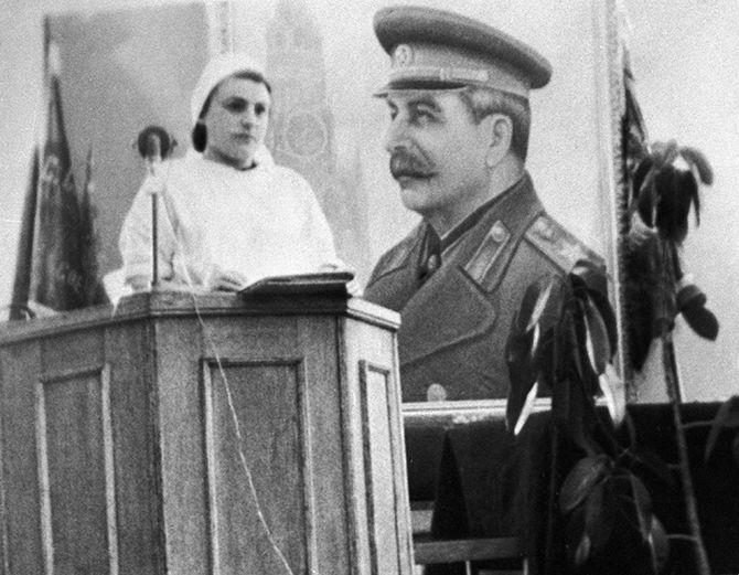 Врач Галина Чеснокова, принимавшая участие в неудачной попытке реанимации Иосифа Сталина.